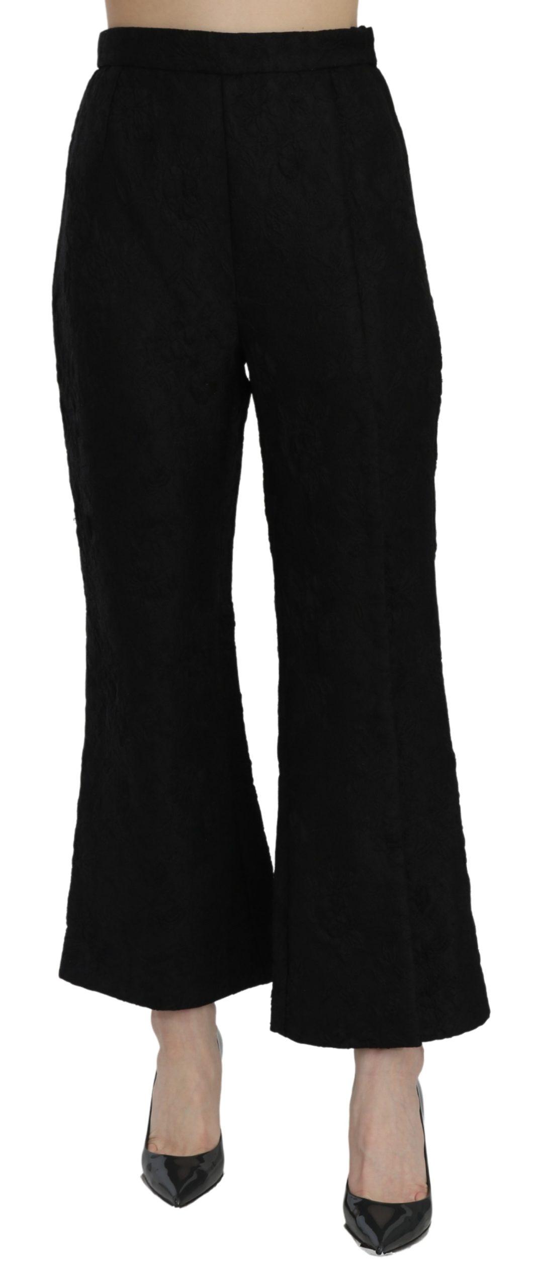 Dolce & Gabbana Women's High Waist Brocade Trouser Black PAN71079 - IT40|S