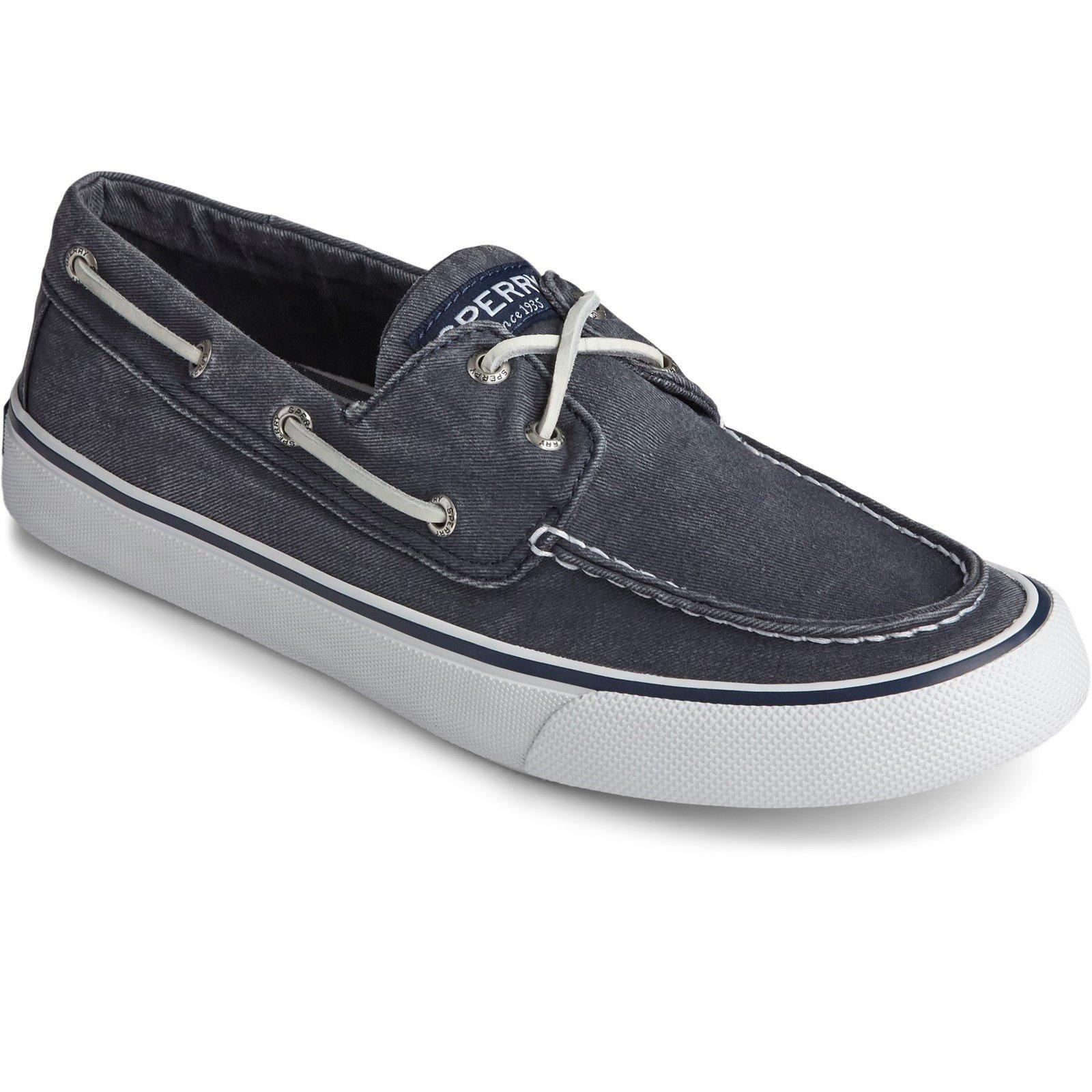 Sperry Men's Bahama II Boat Shoe Various Colours 32923 - Salt Washed Navy 13