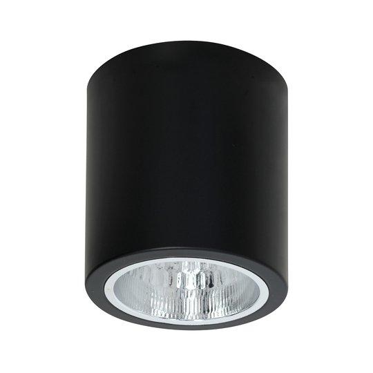 Takspot Downlight round i svart, Ø 13,3 cm