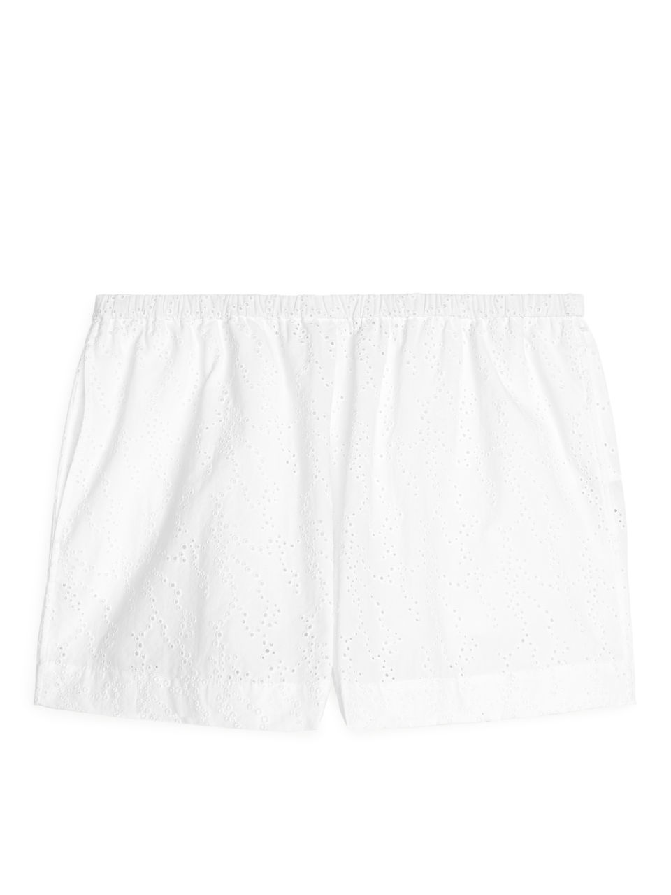 Broderie Anglaise Shorts - White