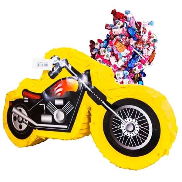 PIÑATA MOTORCYKEL + 1 kg godis