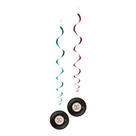 Swirls Rock n Roll Hängande Dekoration - 2-pack