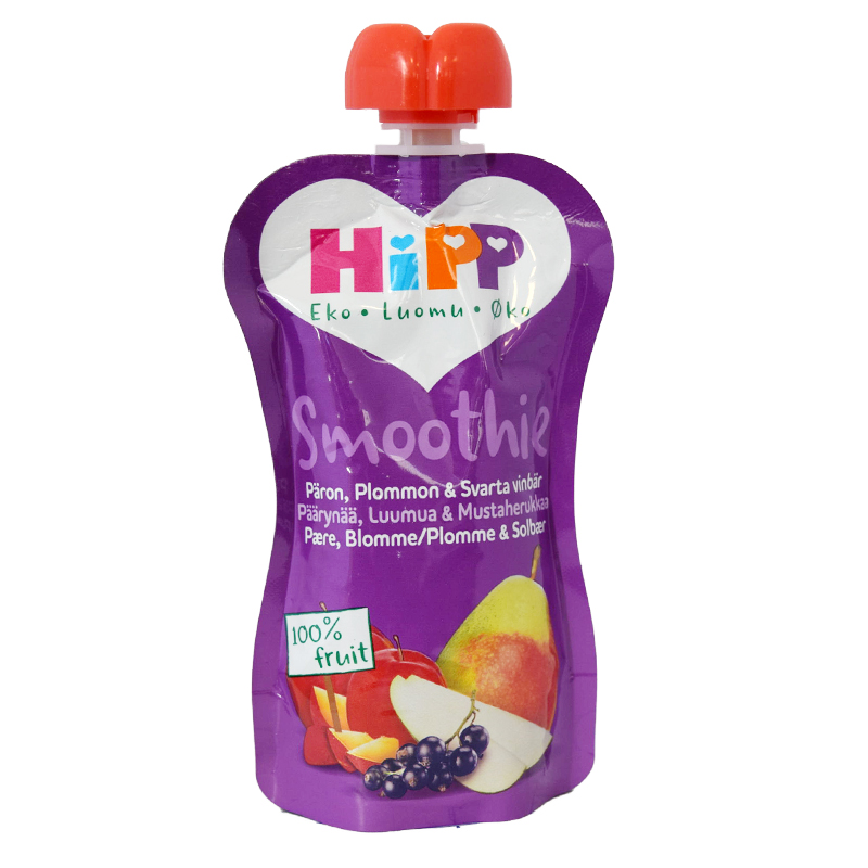 Hipp Smoothie Päron, Plomon & Svart Vinbär - 33% rabatt