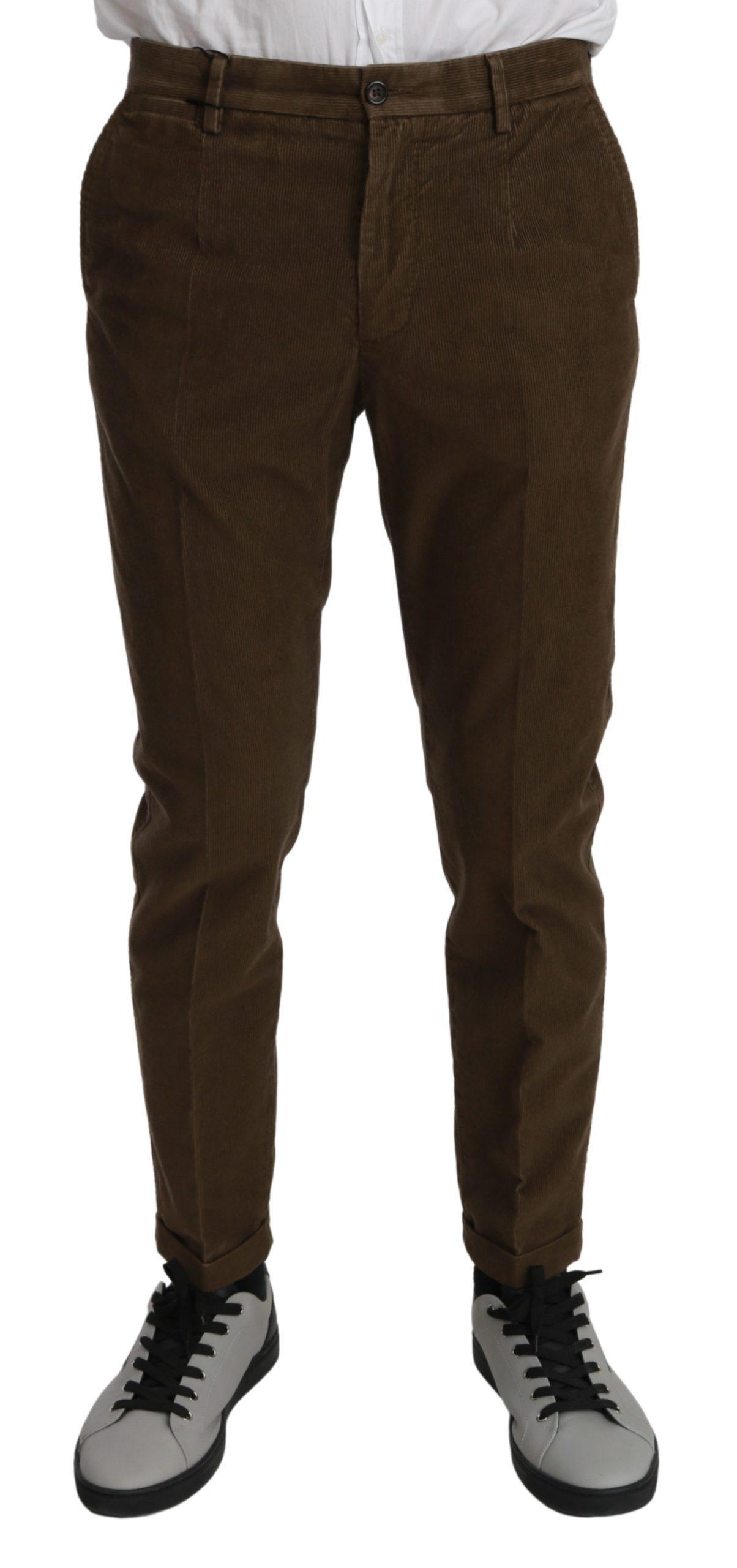 Dolce & Gabbana Men's Casual Cotton Trouser Brown PAN70966 - IT44 | XS