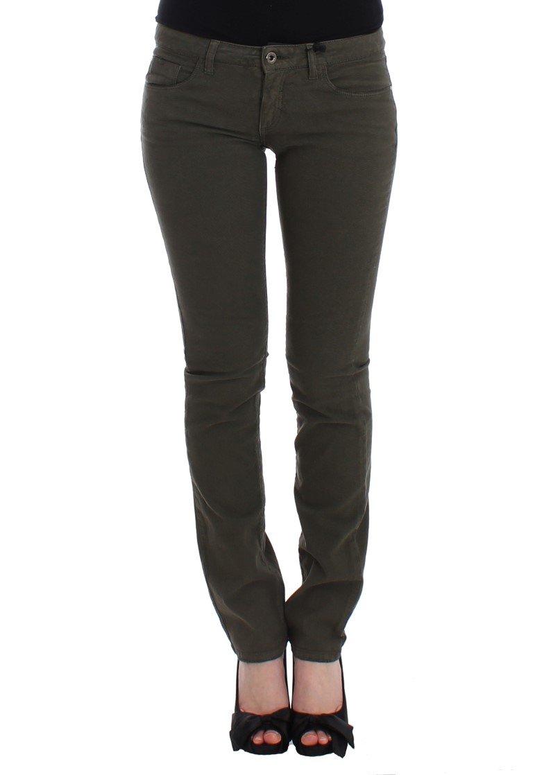 Costume National Women's Skinny Leg Jeans Green SIG12555 - W26