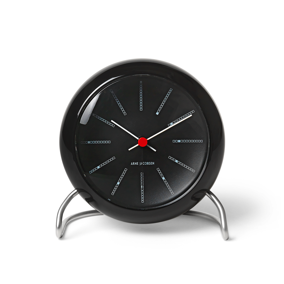 Arne Jacobsen - Bankers Table Clock  - Black (43680)