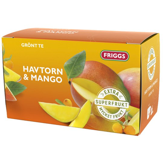 Vihreä Tee, Tyrni & Mango 20-pack - 55% alennus