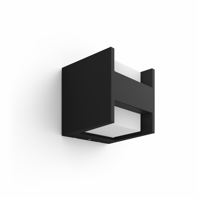 Philips Hue - Fuzo Wall Lantern Black Outdoor - Warm White