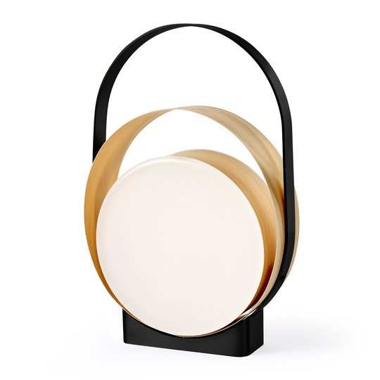 LZF Loop LED-bordlampe svart / bøk natur
