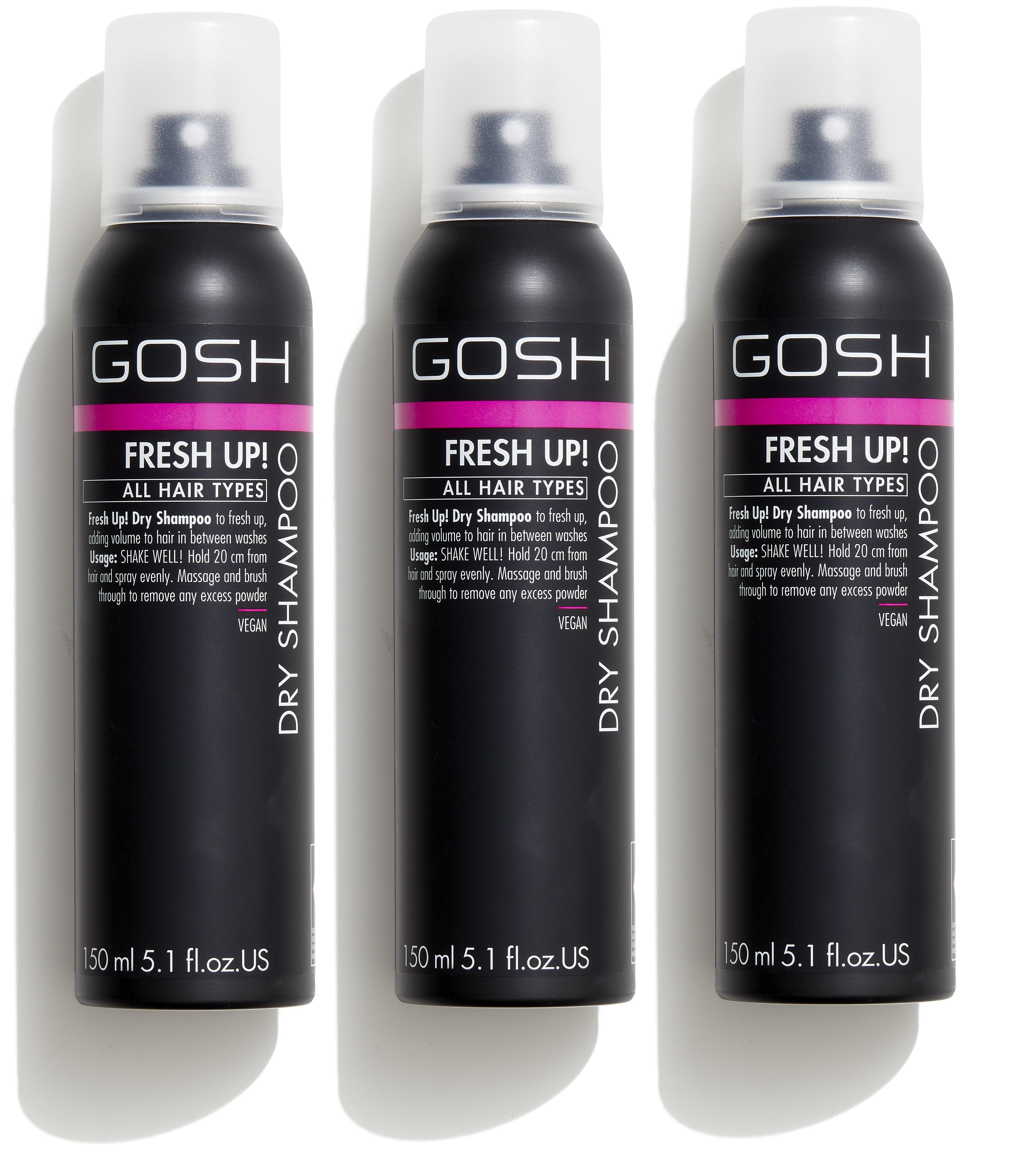GOSH - 3 x Fresh Up Dry Shampoo 150 ml