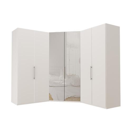 Garderobe Atlanta - Hvit 100 + walk-in + 100, 216 cm, Hvit