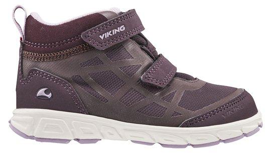 Viking Veme Mid R GTX Sneaker, Grape/Pink, 22