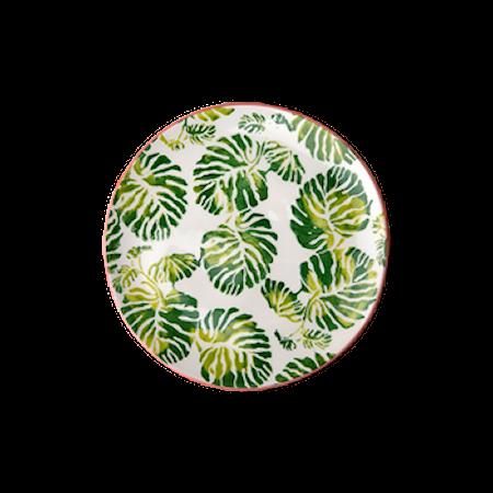 Tropic Leaf print Asjett D:16 cm Keramikk