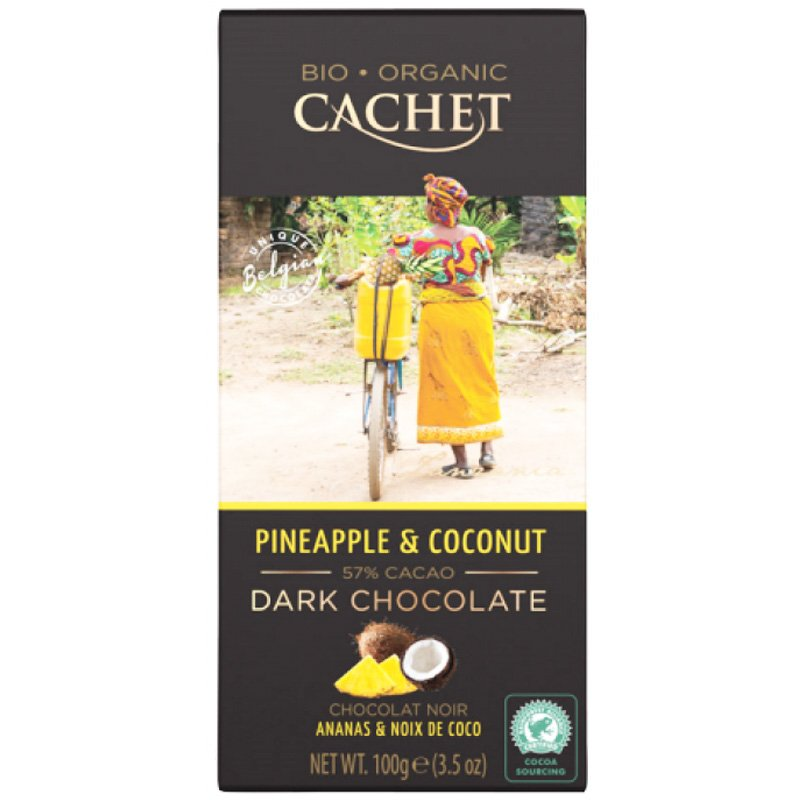 Ekologisk Mörk choklad 57% Ananas & kokos - 28% rabatt