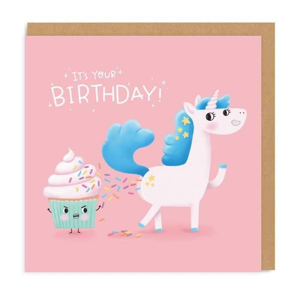 Unicorn Poop Birthday Square Greeting Card