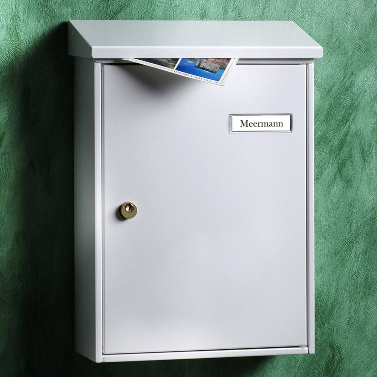 Valkoinen pelkistetty postilaatikko Letter 5832