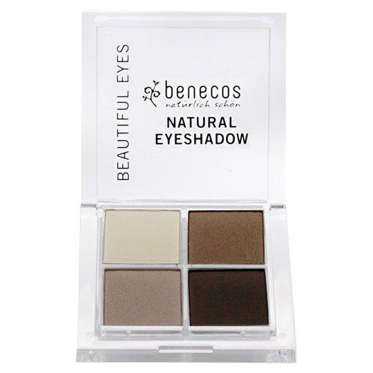 Benecos Natural Quattro Eyeshadow - Coffee & Cream, 8 g