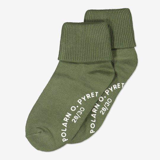2-pakning sokker med sklisikring. grønn