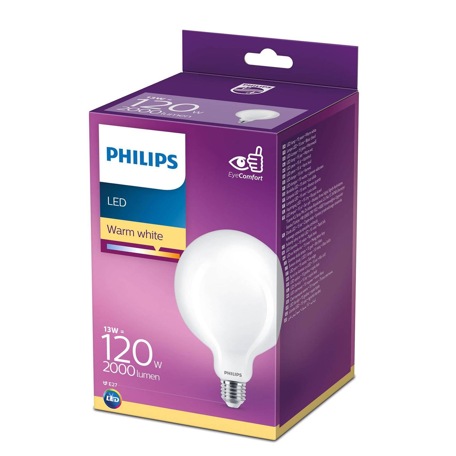 Philips LED Classic globepære E27 G120 13 W