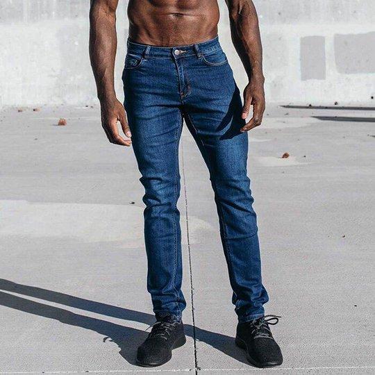 Men's Straight Athletic Fit, Medium Wash