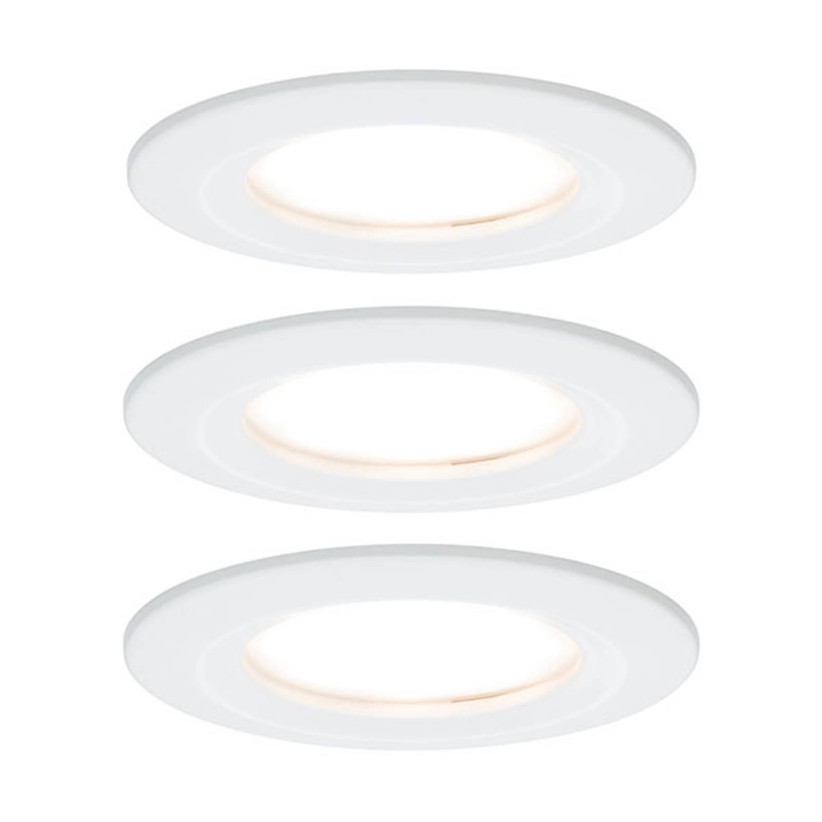 Paulmann Nova -LED-uppovalaisin 3 kpl valkoinen