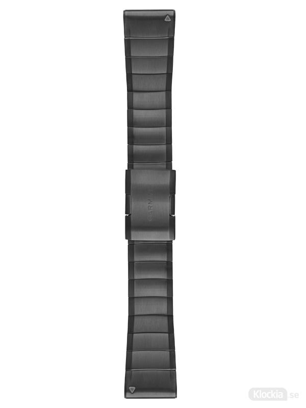 GARMIN QuickFit klockarmband 26mm Carbon Gray DLC Titanium
