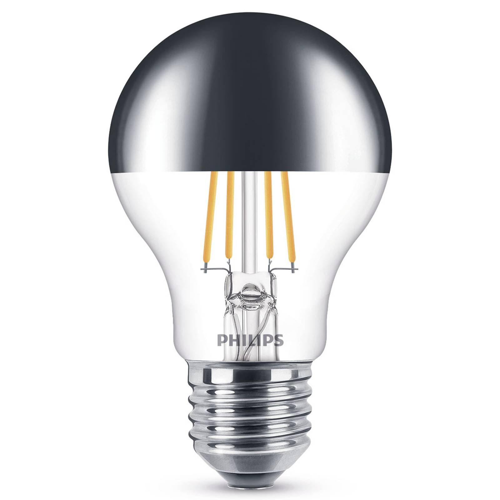 Philips E27 LED-toppforspeilet pære 7,2W varmhvit