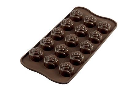 Easy Choco SCG13 ROSE Silikonform ø2,8cm x H1,8cm