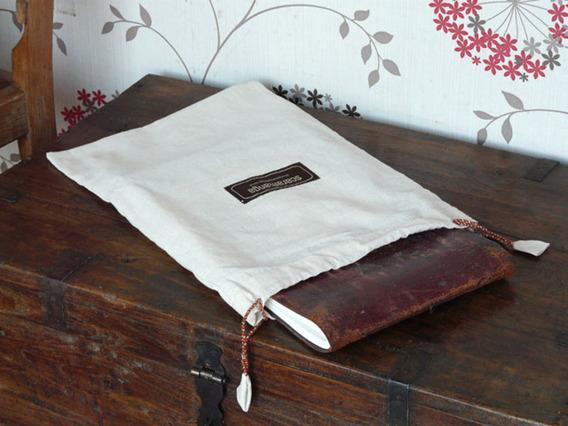 Beige Cotton Presentation Bag Large Large