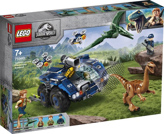 LEGO Jurassic World 75940 Gallimimus og Pteranodon: Oppdrag dinofangst