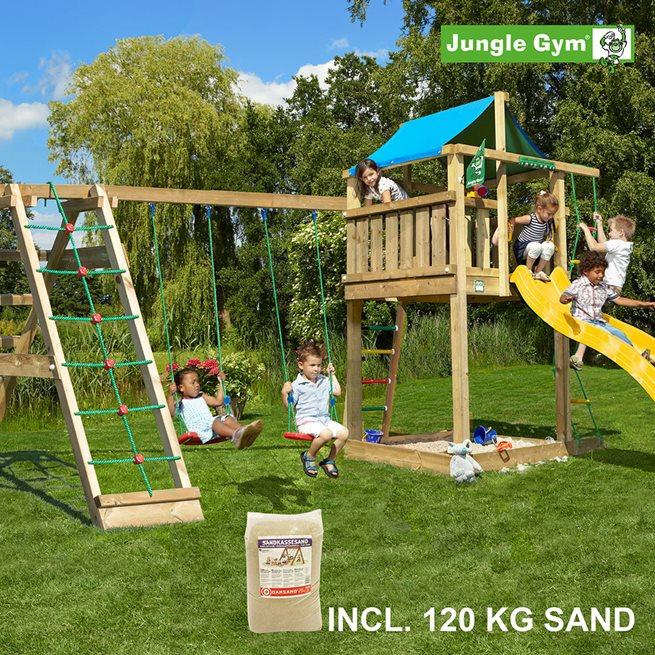 Jungle Gym Lodge lektorn komplett inkl. Climb, Klätterställnig