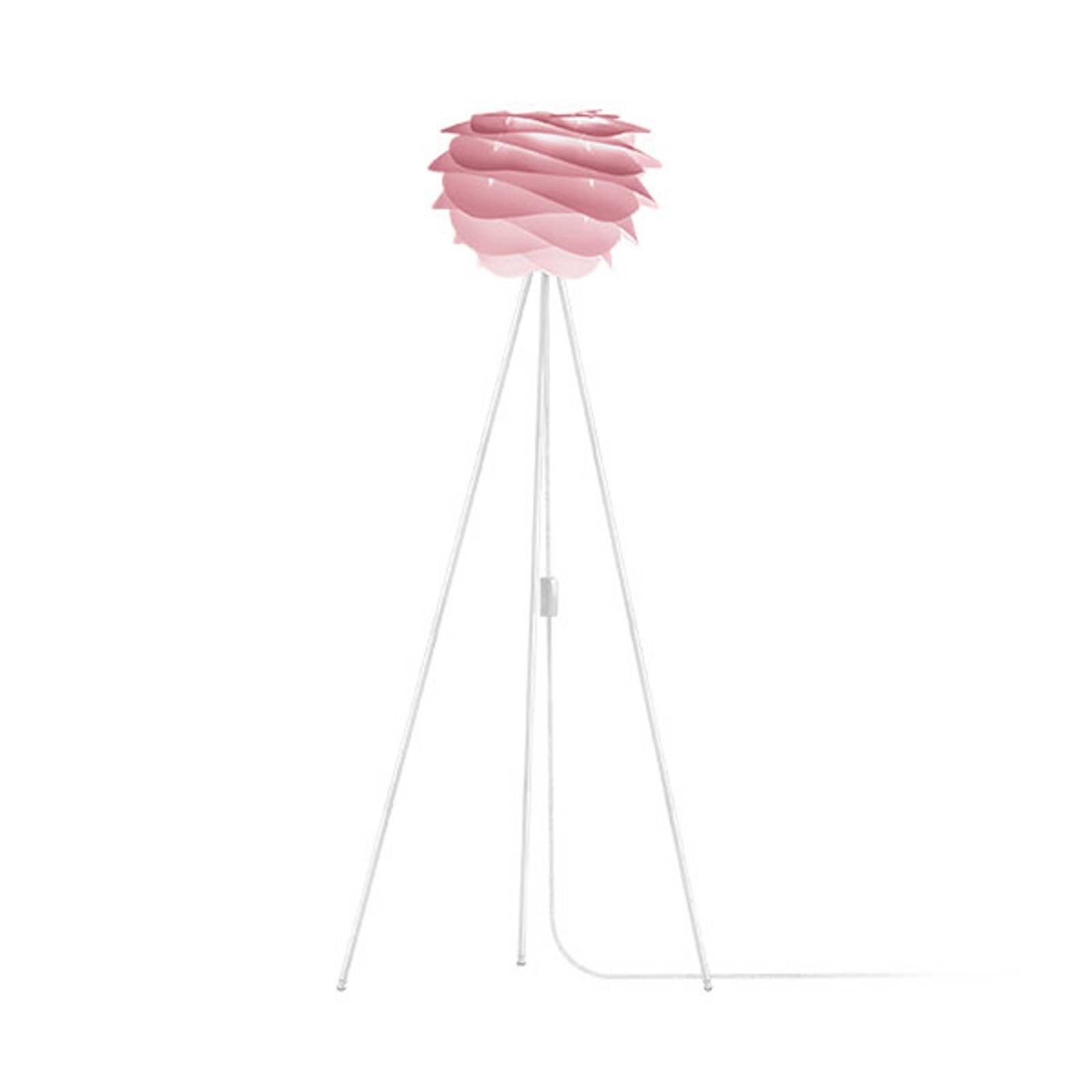 UMAGE Carmina Mini gulvlampe rosa/tripod hvit