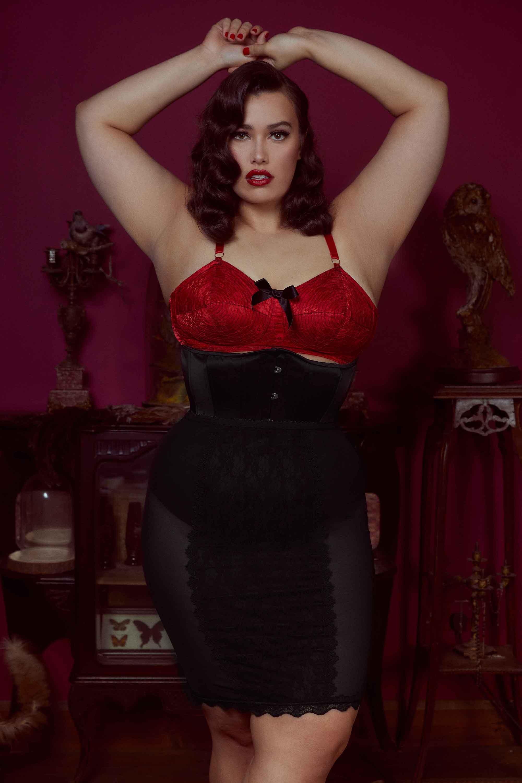 Bettie Page Black Lingerie Skirt UK10 / US6