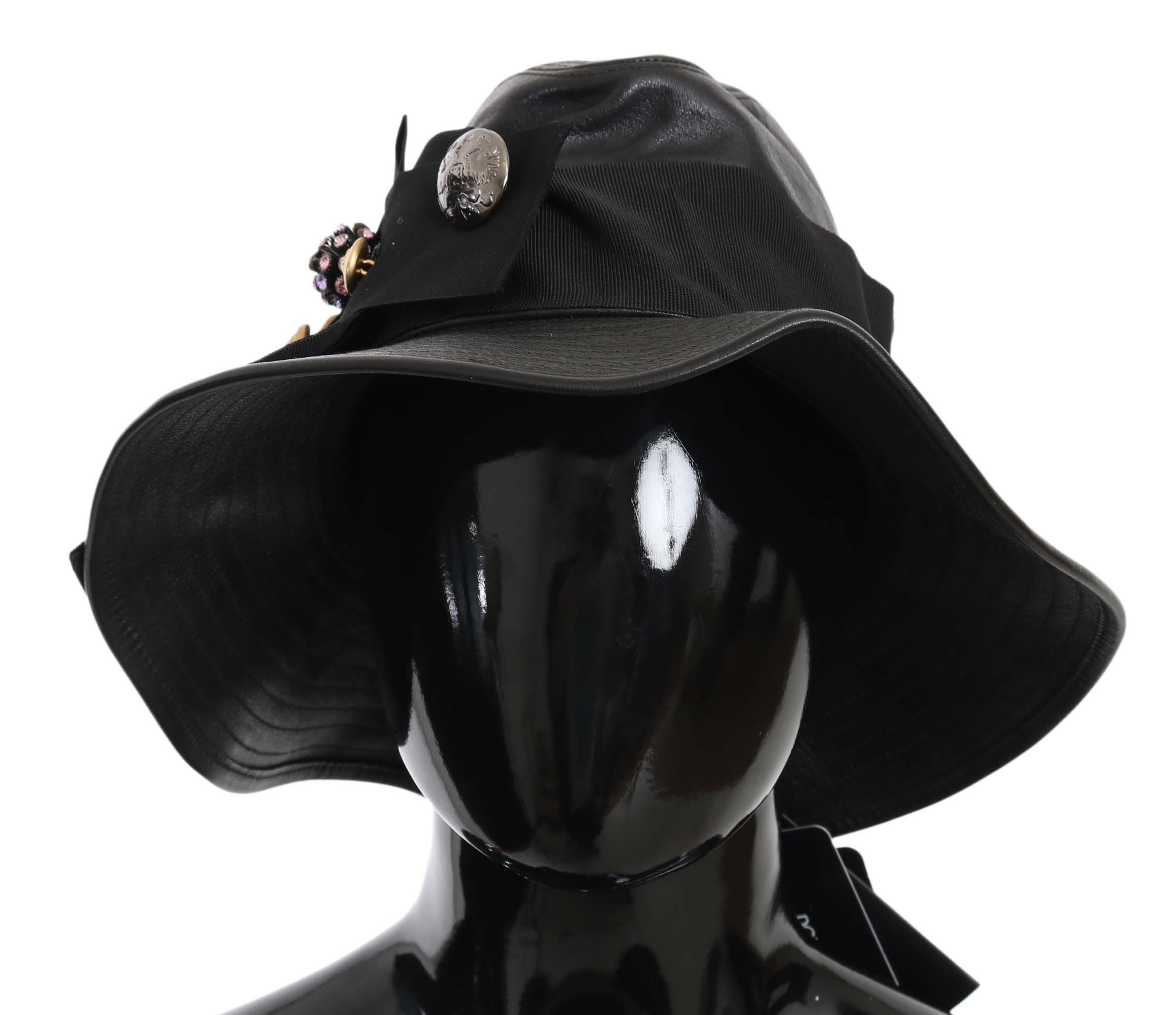 Dolce & Gabbana Women's Hat Black HAT70222 - 58 cm M
