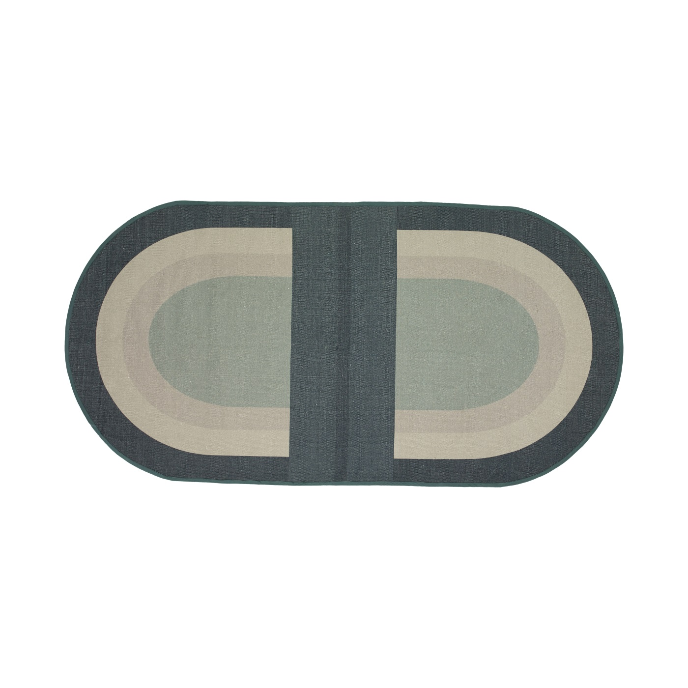 Oval matta RECYCLE, Hubsch