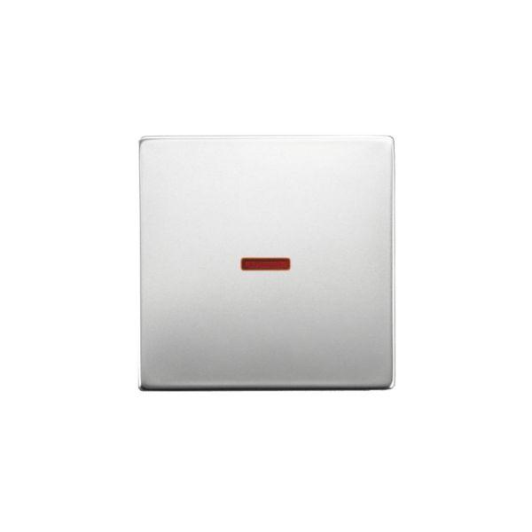 ABB 1789-866 Enkeltvippe 1-veis, rød linse Stål
