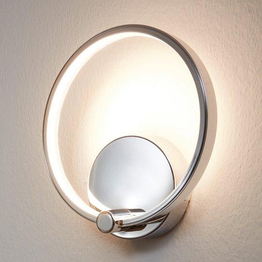 Renkaanmuotoinen Lasana LED-seinävalaisin