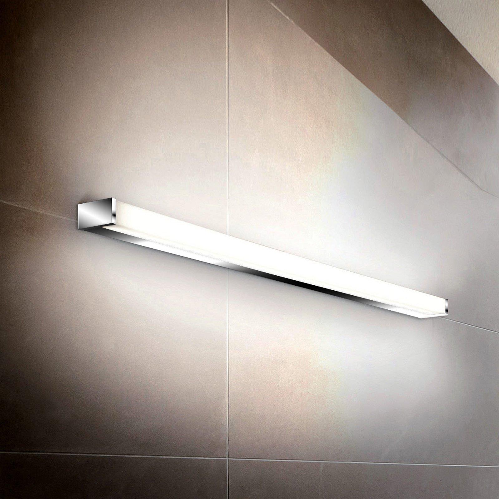 Linjeformet LED-vegglampe PARI, 60 cm, krom