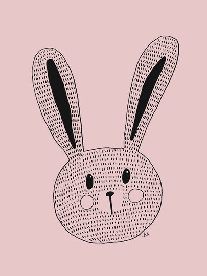MiniMys Poster Ted Dot 50x70, Rosa