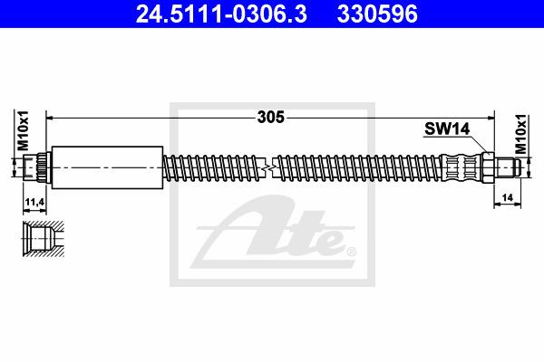 Jarruletku ATE 24.5111-0306.3