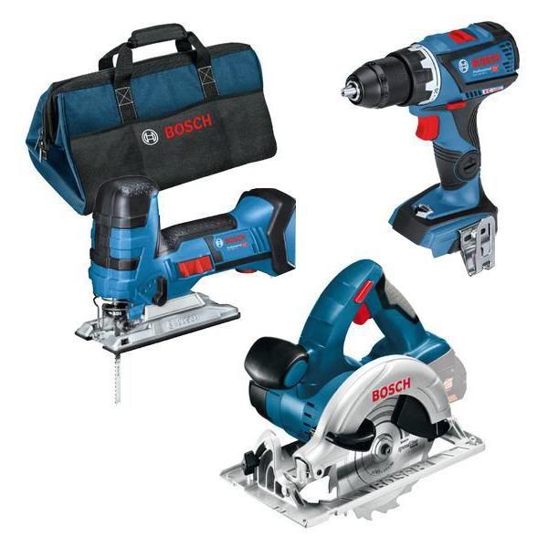 Bosch 0615990K1E Työkalupaketti sisältää laukun, 5,0 Ah:n akut ja laturin