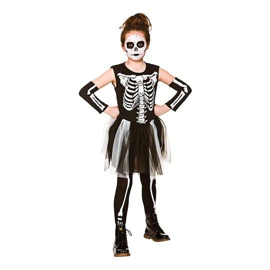 Skelettklänning Barn Maskeraddräkt - Small