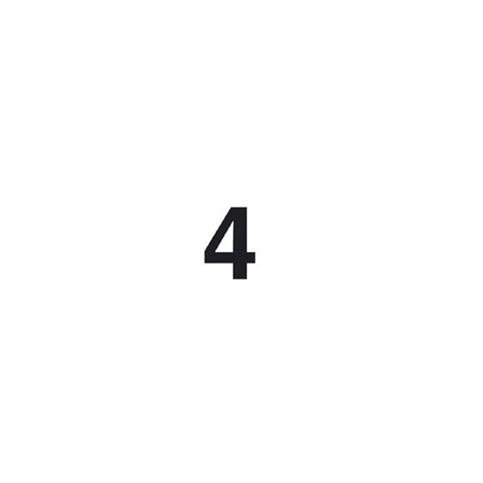 Selvklebende tallet 4