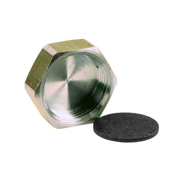 Ezze 3006105012 Lokk metall med pakning, inv gjenge G10, messing