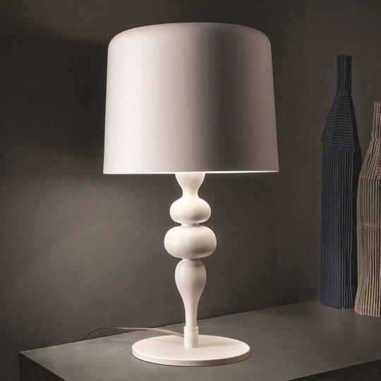 Bordlampe Eva TL1 M, høyde 53 cm matt hvit