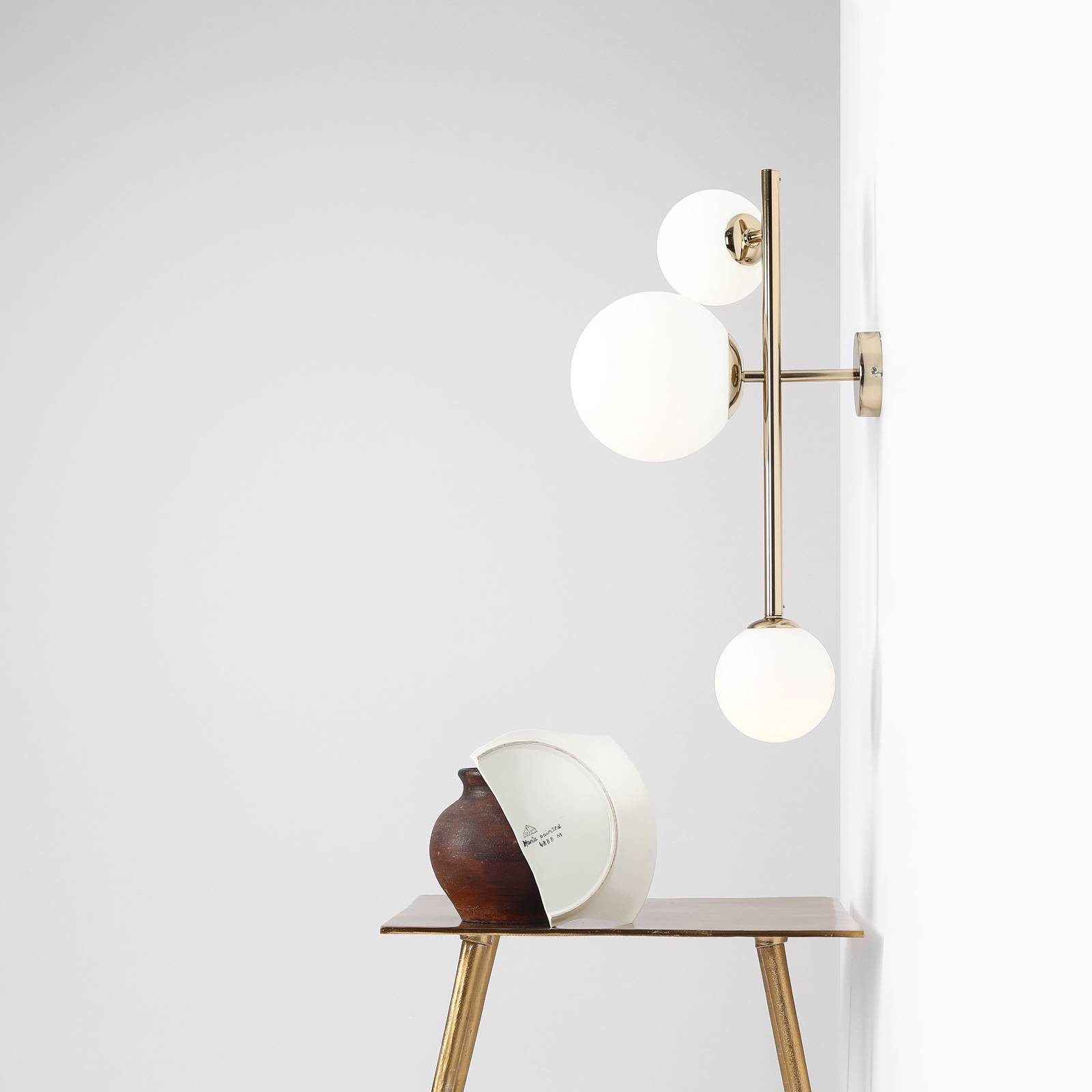 Seinävalaisin Dione, 3-lamppuinen, kulta