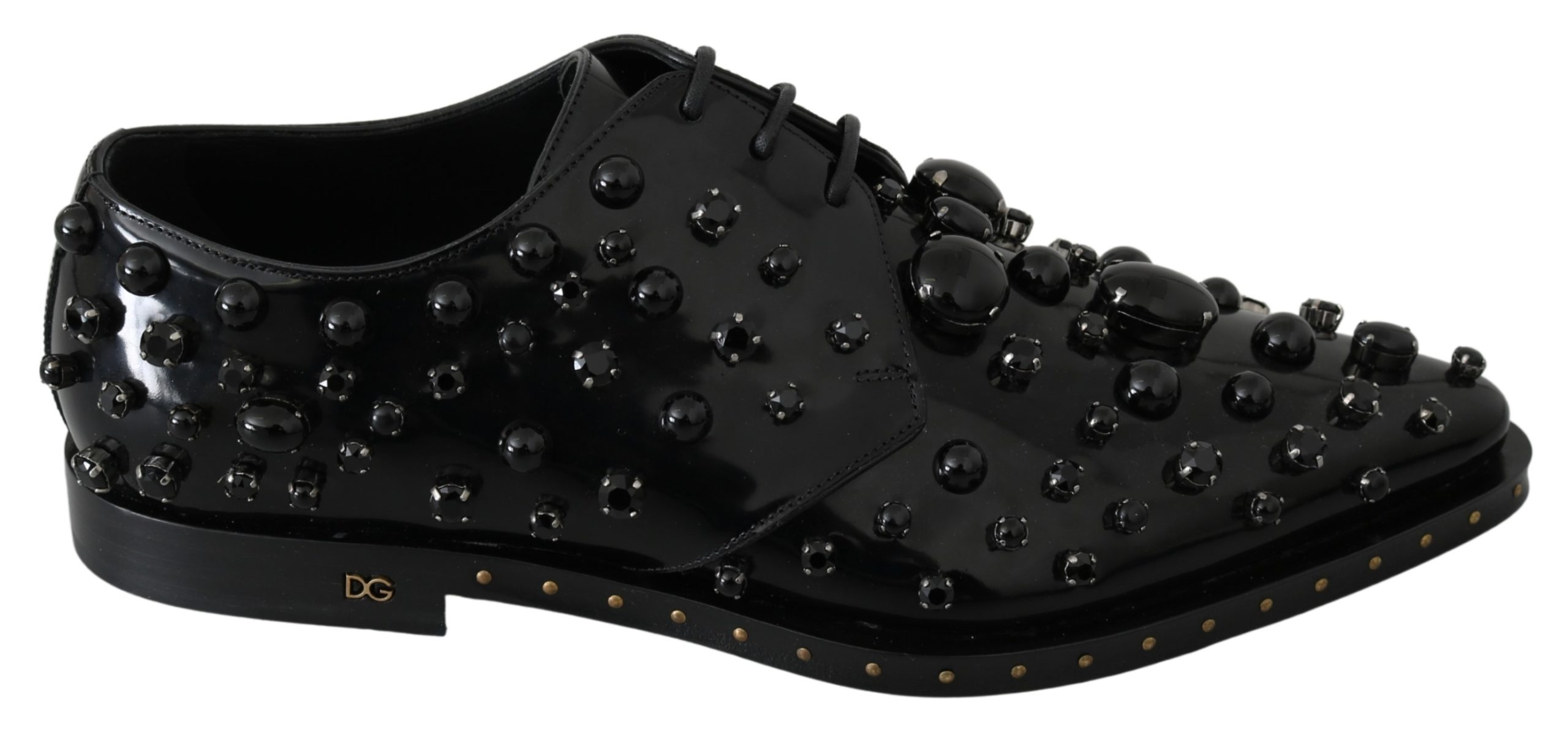Dolce & Gabbana Women's Crystals Dress Broque Shoe Black LA7209 - EU40/US9.5