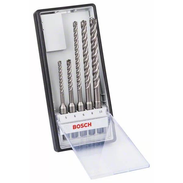 Bosch Robust Line Hammerborsett SDS-plus 5-pakning, 5–10 mm