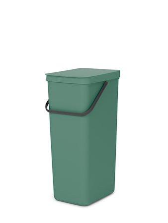 Sort & Go Søppelbøtte Fir Green 40 liter