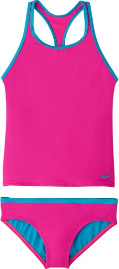 Nike Swim Solid Tankini, Laser Fuchsia L